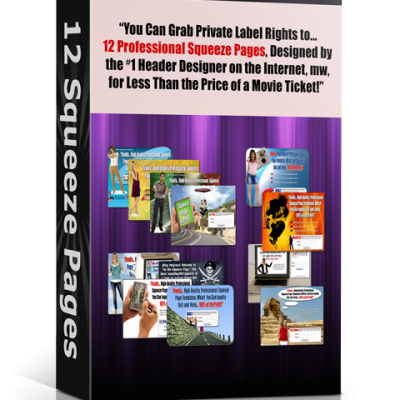 Squeeze Page - 12 Squeeze Page Templates, Digital Download